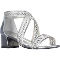 Caparros Imagine Kitten Heel Sandals, Silver