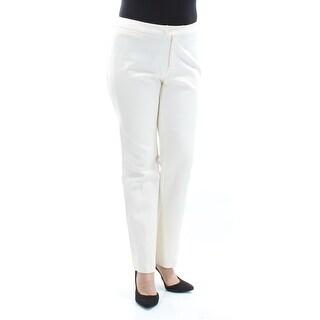Womens Ivory Wear To Work Straight leg Pants Size 10