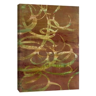 """PTM Images 9-105386  PTM Canvas Collection 10"""" x 8"""" - """"Copper Line 3"""" Giclee Abstract Art Print on Canvas"""
