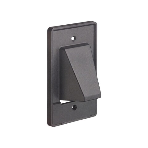 Monoprice Reversible 2pc 1-Gang Low Voltage Scoop Wall Plate Black