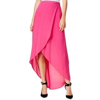 Chelsea Sky Womens Maxi Skirt Tulip Front Pull On