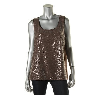 Lafayette 148 Womens Silk Sequined Blouse