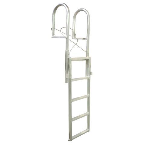 Dock edge slide-up aluminum 5 step dock ladder
