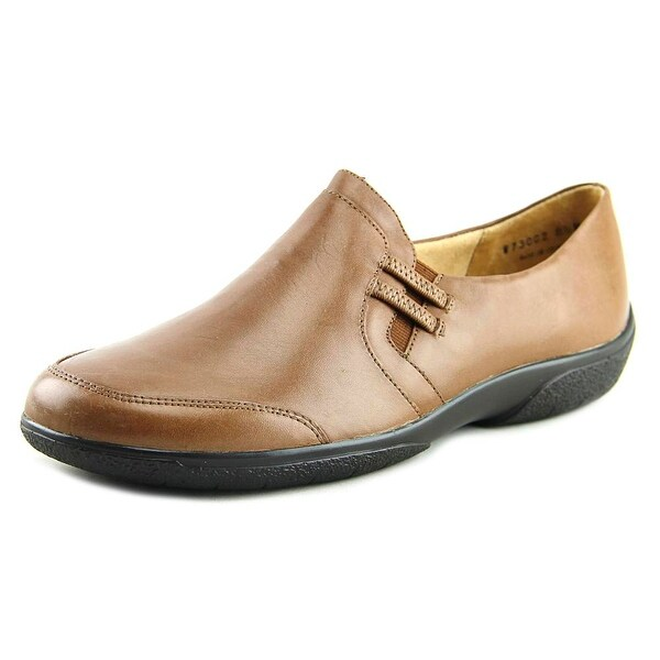 Walking Cradles Ace Women Round Toe Leather Tan Loafer