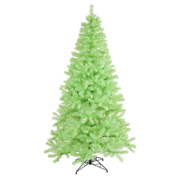 "4' x 31"" Pre-Lit Sparkling Chartreuse Green Artificial Christmas Tree - Green Lights"