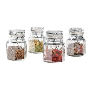 Palais Glassware Epices Collection, Glass, Spice Canisters, Set of 4