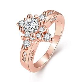 Rose Gold Classic Diamond Design Ring