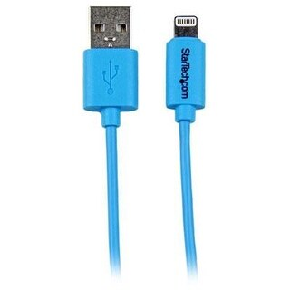 Startech 3-Feet 8-Pin Lightning To Usb Charge Sync Cable For Iphone 5C, Blue (Usblt1mbl)