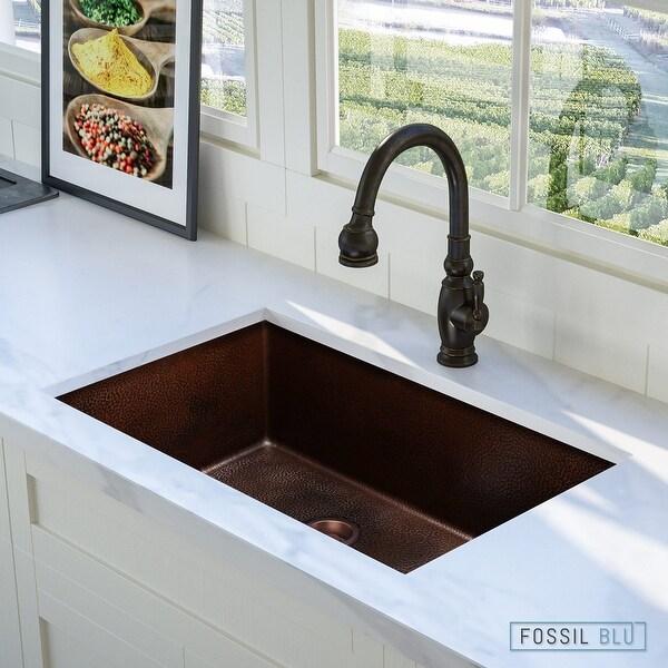unique design of copper undermount sink kitchen   Shop Luxury 30 inch Extra-Thick Copper Undermount Kitchen ...