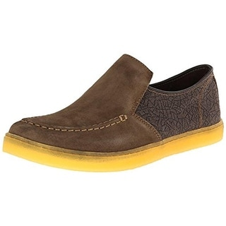 Hush Puppies Mens Gregory Aquaice Suede Slip On Loafers