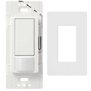 Lutron Maestro Occupancy/Vacancy Sensors With Wall Plate (White) - White