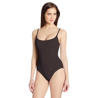 Anne Cole Signature Womens One-Piece Swimsuit Black Size 10