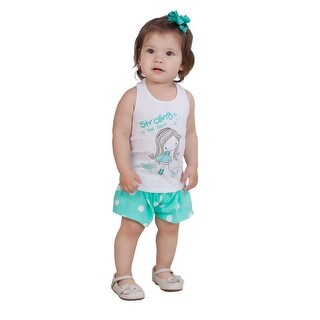 Pulla Bulla Baby Girl Set Polka Dot Tank and Shorts 2pcs Outfit