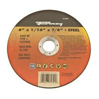 "Forney 71791 Cutting/Grinding Wheel, 6"" X 7/8"" X 1/16"""