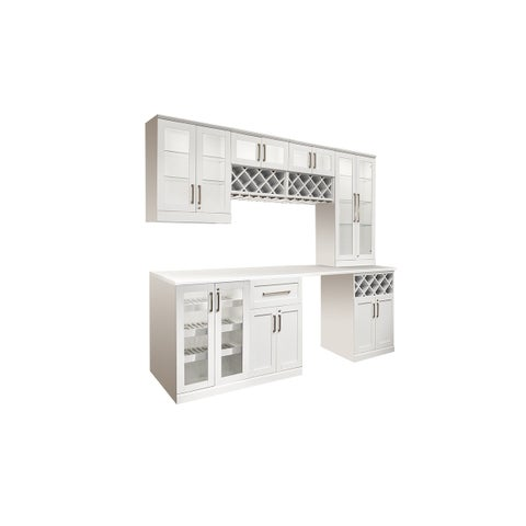 """NewAge Products Home Bar Series 96""""W x 25""""D 8 PC Shaker Style"""
