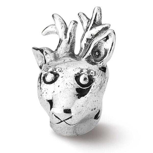 Sterling Silver Reflections Reindeer Bead (4mm Diameter Hole)