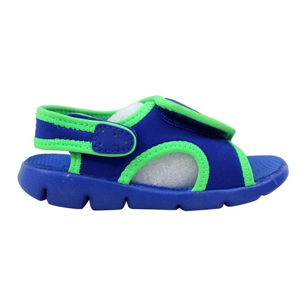 hot sale online c6bc9 6e9c9 Nike Sunray Adjust 4 Hyper Blue Bright Citrus-Poison Green Toddler  386519-404. Click to Zoom