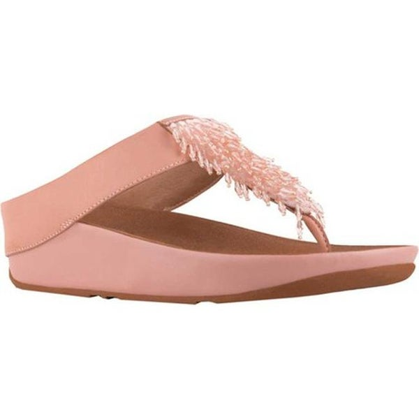 83b7cd1f7a1 Shop FitFlop Women s Rumba Wedge Thong Sandal Dusky Pink Leather ...