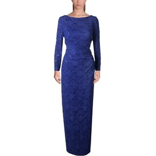 Lauren Ralph Lauren Womens Jaysona Evening Dress Lace Sequined