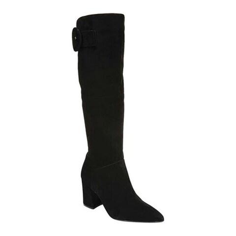 Naturalizer Women's Harlowe Knee High Wide Calf Boot Black Suede