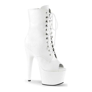 Pleaser Women's Adore 1021 White Faux Leather/White