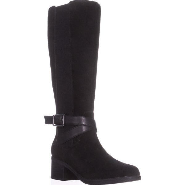 Clarks Nevella March Mid Calf Boots, Black - 5.5 us / 35.5 eu