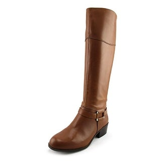 Alfani Biliee Women  Round Toe Leather Brown Knee High Boot