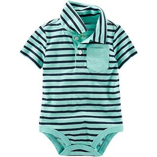 Carter's OshKosh B'gosh Baby Boys' Jersey Polo Bodysuit Mint 12M
