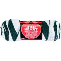 Red Heart Team Spirit Yarn-Green & White - Green