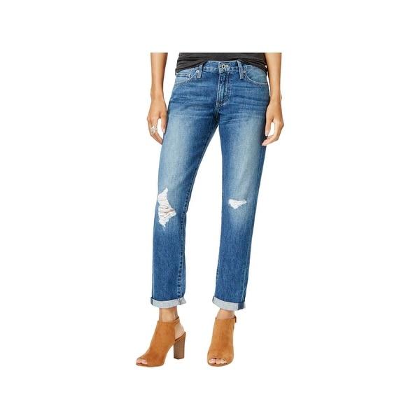 6ee5e46de5d Shop Lucky Brand Womens Sienna Boyfriend Jeans Slim Fit Ripped ...