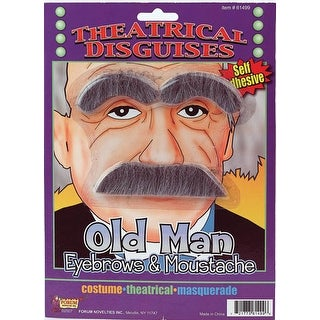 Old Man Eyebrows and Moustache Costume Accessories