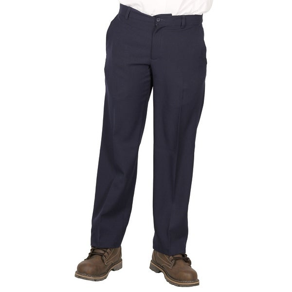 Geoffrey Beene Men's Dress/Casual Flat-Front Pant, Navy