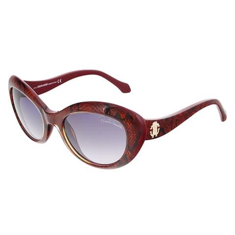 Roberto Cavalli RC826S/S 69T ALSHAT Glitter Red Cat Eye Sunglasses