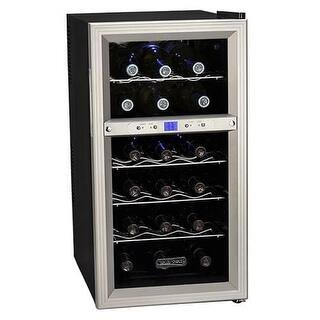 Koldfront TWR181E 14 Inch Wide 18 Bottle Wine Cooler with Dual Thermoelectric Cooling Zones|https://ak1.ostkcdn.com/images/products/is/images/direct/c05df25e023d0abef1abf792097b76a62b68561a/Koldfront-TWR181E-14-Inch-Wide-18-Bottle-Wine-Cooler-with-Dual-Thermoelectric-Co.jpg?impolicy=medium