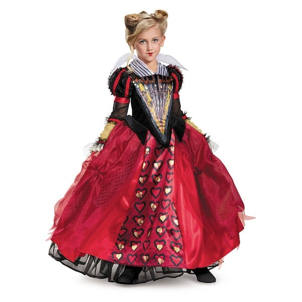 Girls Deluxe Red Queen Dress Disney Costume
