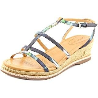 Corso Como Codi Women Open Toe Leather Multi Color Wedge Sandal