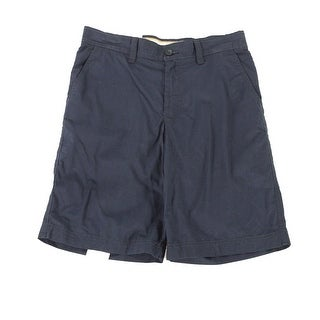 IZOD Saltwater NEW Blue Mens Size 30 Flat Front Seaport Poplin Shorts