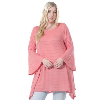 Women's Plus Size Bell Sleeve Tunic 1X-4X