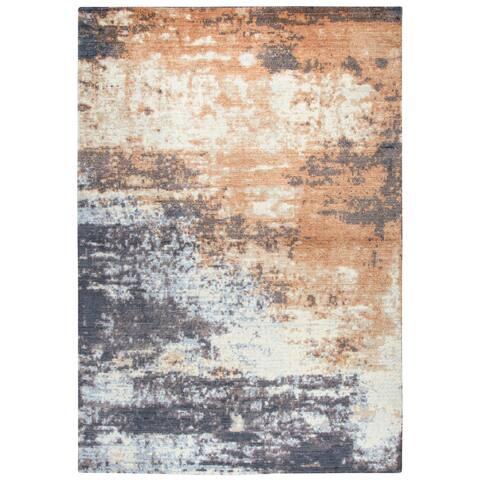 Alora Decor Euphoria Collection Rust Abstract Rug
