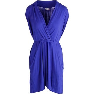 Kut From The Kloth Womens Sleeveless Faux-Wrap Casual Dress