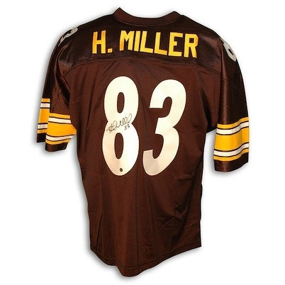 separation shoes 1cf04 1df0a Autographed Heath Miller Pittsburgh Steelers Black Throwback Jersey