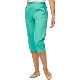 Alfred Dunner Womens Capri Pants Comfort Waist Pull On
