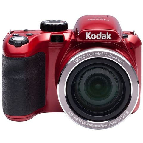 "Kodak AZ421-RD PIXPRO Astro AZ421 16 MP Digital Camera with 42X Optical Zoom and 3"" LCD Screen (Red)"