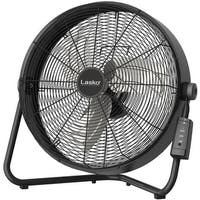 Lasko H20685 20 In. High Velocity Floor Fan with Wall-Mount and Remote Control - Black