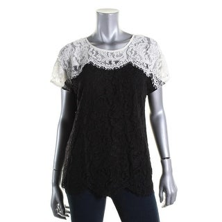 Essentiel Womens Lace Fringe Pullover Top