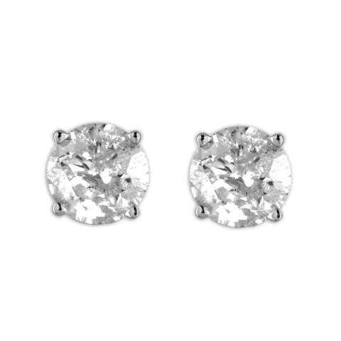 14k White Gold 2ct TDW Diamond Stud Earring by DeCouer