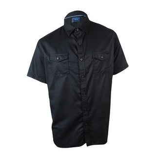 Link to Caribbean Men's Solid Cotton Blend Pocket Shirt Similar Items in Shirts