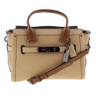 Coach Womens Swagger Satchel Handbag Leather Convertible - MEDIUM