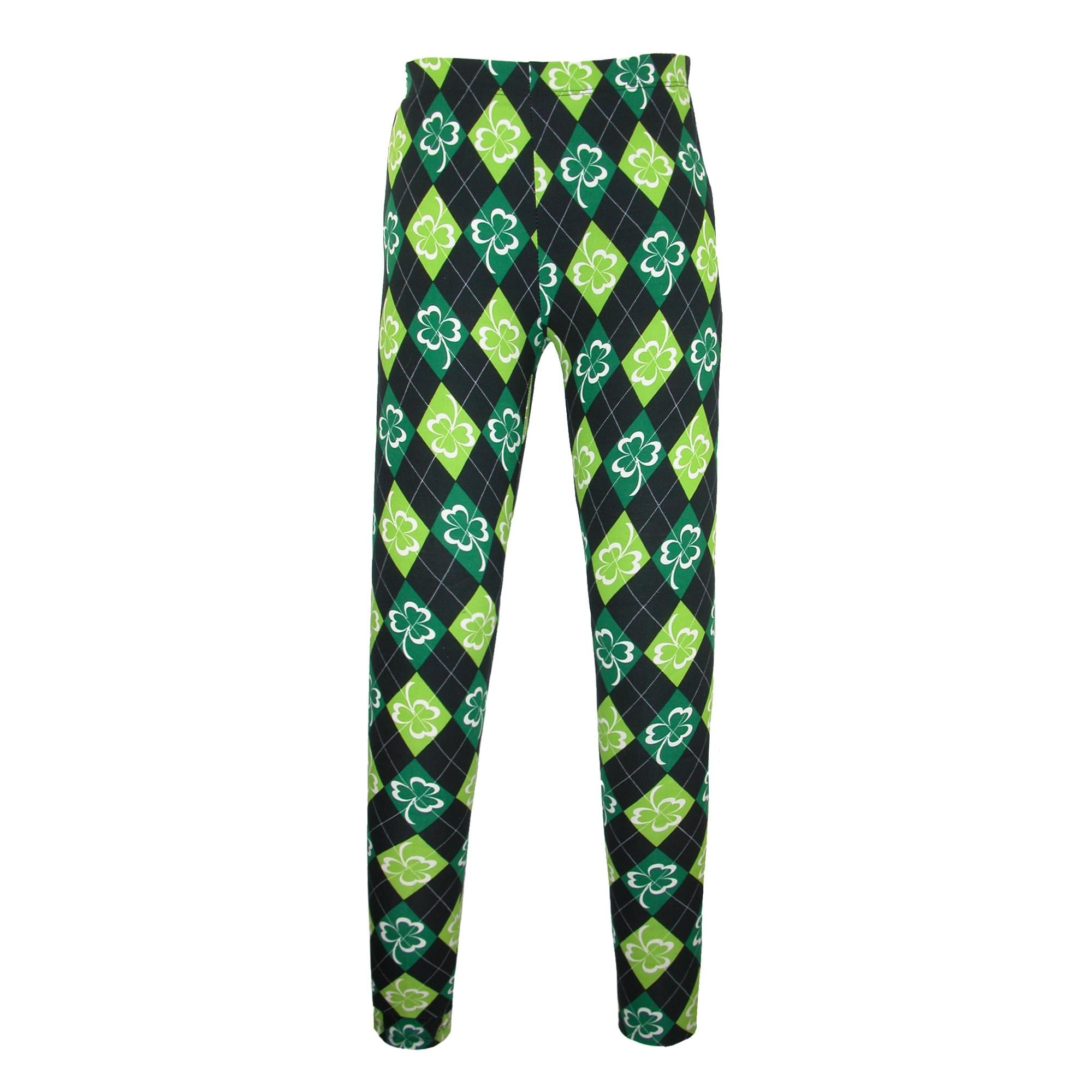 Shamrock Capri Leggings For Women Printed Green Shamrock Clover St Patricks Day