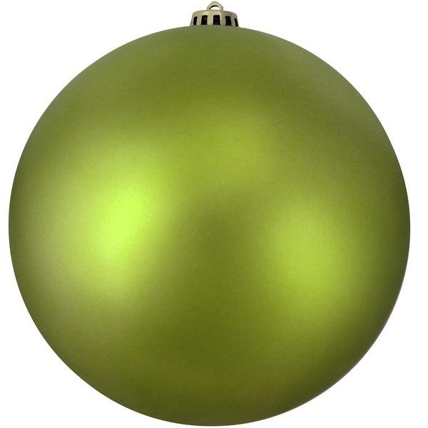 "Shatterproof Matte Green Kiwi Commercial Christmas Ball Ornament 12"" (300mm)"